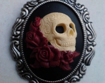 Loved To Death Cameo necklace/brooch
