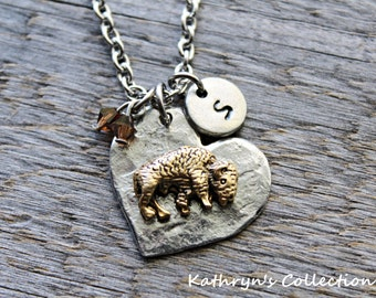 Buffalo Necklace, Bison Necklace, Buffalo Jewelry, Bison Jewelry,  Buffalo, Buffalo Gift, North Dakota Bison, NDSU