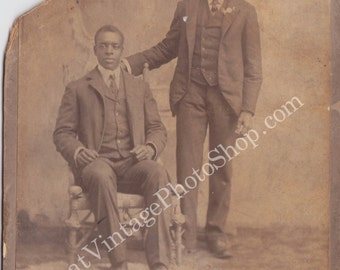 African American Brothers Vintage Photo - Cabinet Card