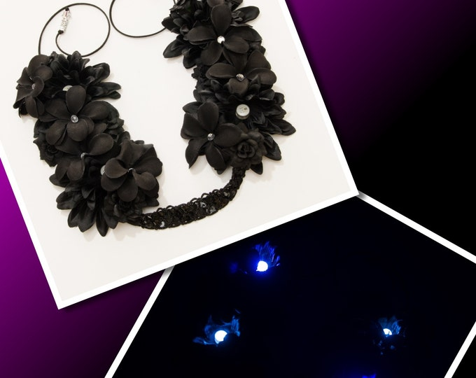 Black LED Flower Crown