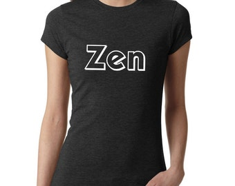 Meditation Shirt, Zen Shirt, Yoga Shirt, Yoga Top, Yoga Tank, Om Shirt, Namaste Shirt, Ladies Shirt, gym shirt, fitness shirt, #LS15