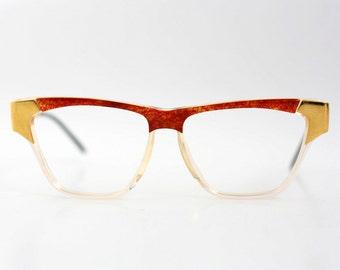 NOS Laura Biagiotti eyeglasses / Vintage wayfarer glasses / Deadstock optical frames / made in Italy - 80s