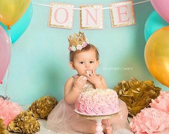 First Birthday Banner; 1st Birthday Banner; Cake Smash Banner; 1st Birthday Decorations; First Birthday Decorations; CUSTOM