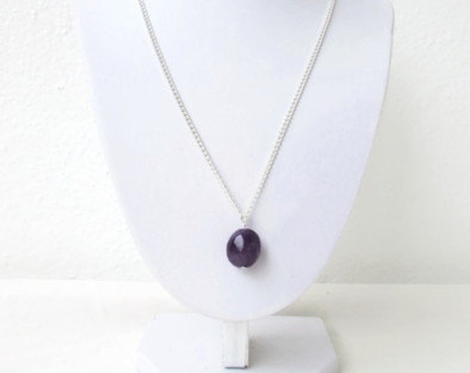 Amethyst pendant necklace, Handmade in the UK