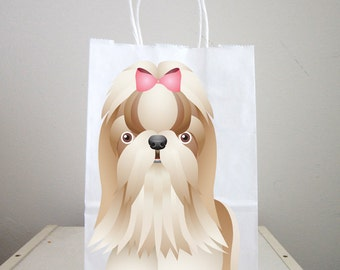 Puppy Goody Bags, Dog Goody Bags, Puppy Favor Bags, Dog Favor Bags - Yorkie Goody Bags