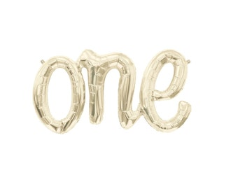 One Script Balloon First Birthday Party 1st Birthday Balloon One Balloon Script Letter Balloons Northstar Balloons Air fill balloons Script