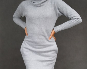 Sweatshirt dress cowl neck