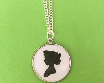 Wendy Darling Silhouette Necklace