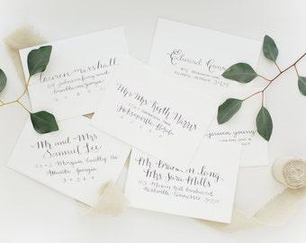 Modern Calligraphy Envelope Addressing