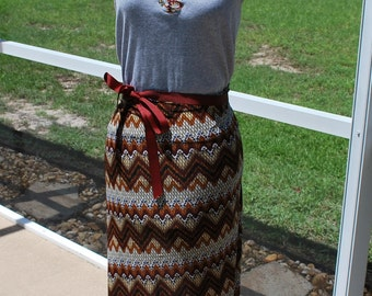 Florida State FSU Seminoles Noles Gameday  Maxi Dress, with Tie Waist Size M / L