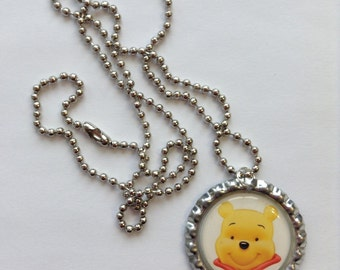 Winnie the Pooh Party Favor 10 Pack of Bottle Cap Necklaces