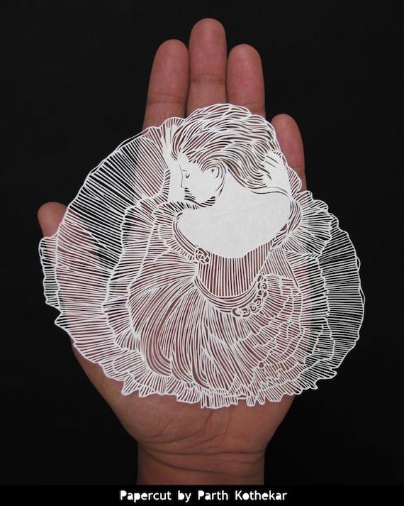 Livraison gratuite - Papercut - papier-découpé - art - Papercutting - Papercraft - Paperart - Handmade - Handcut - Papercraft - papier - illustration