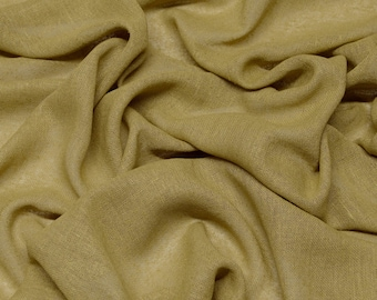 "Dull Gold 100% Raw Silk Gauze Weave Fabric, 54"" Wide, By The Yard (WT-1003B)"