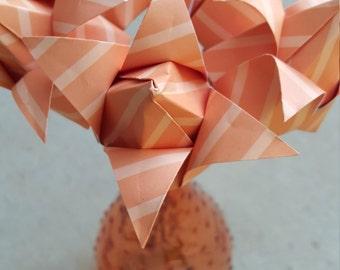 Orange Origami Flower Arrangement