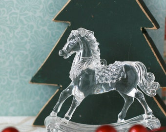 Rocking horse christmas ornament decoration