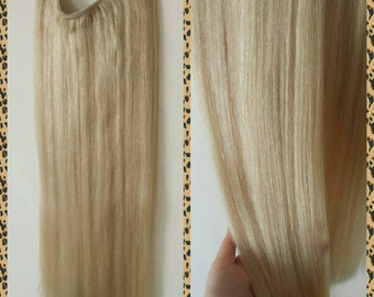 24 200g Magic Halo DELUXE Miracle Wire Human Hair Extensions 200 Grams