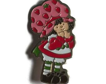 Strawberry shortcake Brooch, Cartoon Pin