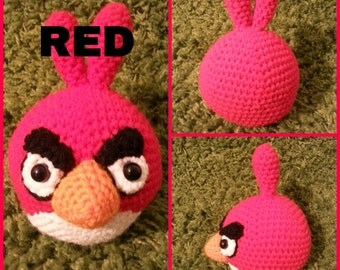 RED (ANGRY BIRDS)  Crochet Pattern