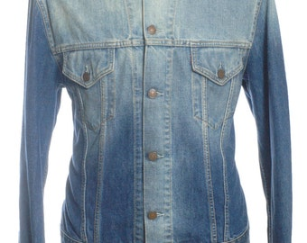 Vintage 1980's Levi's Faded Blue Denim Jacket M- www.brickvintage.com
