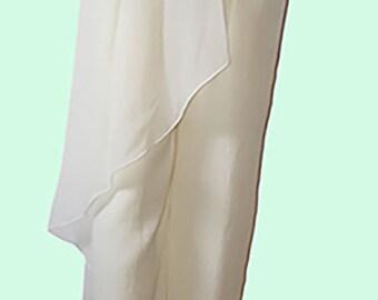 90's Vintage Giorgio Armani Off-White Crepe Silk Harem Pants