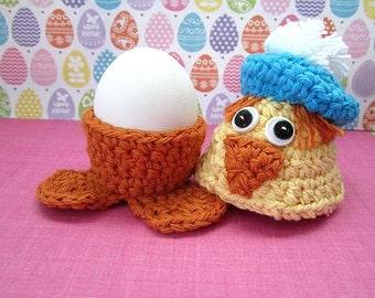 Duck Egg Cozy Crochet Pattern - Crochet Easter Egg Holder  #Ea0002