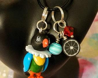 pokemon inspired chatot charm cell phone necklace bracelet
