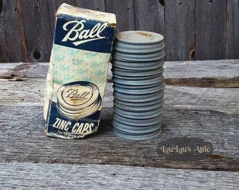 Ball Zinc Jar Caps With Porcelain With Original Box