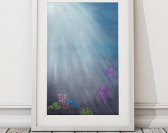 Deep as the Ocean Print from Pastel Drawing