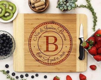 Personalized Cutting Board, Custom Cutting Board, Engraved Cutting Board, Monogrammed Bamboo Wood --21024-CUTB-001