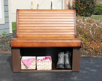Wooden Storage Bench for Entryway