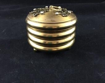 Vintage Brass Coaster Set