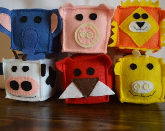 Felt Animal Blocks (Set of 6)