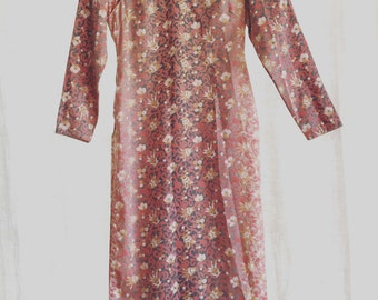 Vintage Silk Chinese Cheaongsam Dress XSmall