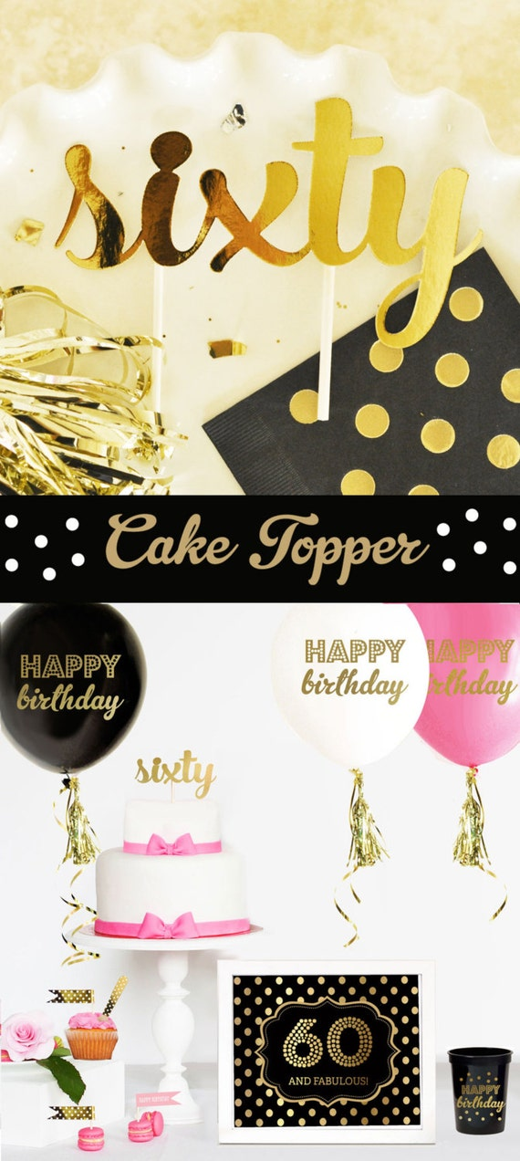 60 cake topper 60th birthday cake topper 60th birthday for 60th birthday decoration ideas