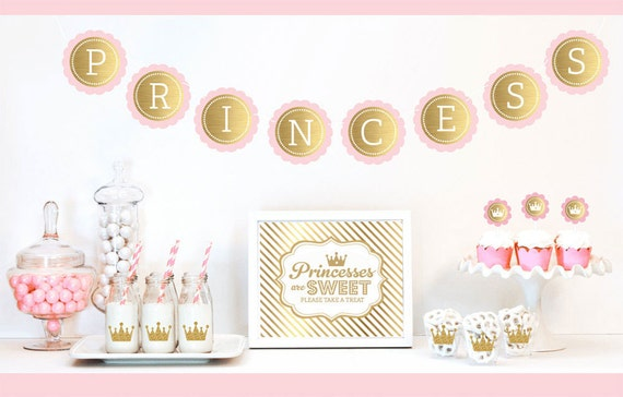 items similar to princess party decor royal princess baby shower party