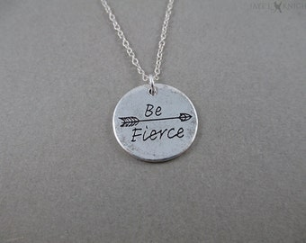 Be Fierce Arrow Pendant Necklace