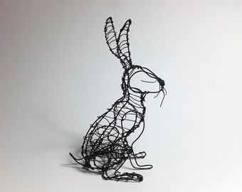 Hand made wire Hare sculpture