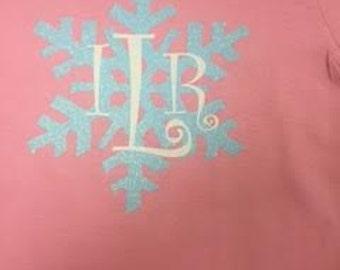 Monogram Frozen Shirt for Babies and Little Girls