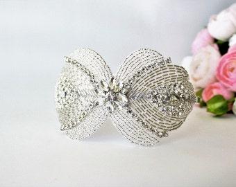 Rhinestone Bridal Tiara Crown Headband - Crystal - Bridal Headband - Hair Accessory - Headpiece - Hair Piece - Art Deco Vintage - Retro