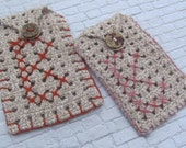 Personalized Cell Phone Accessory , Crochet cigarettes case ,Pink Fashion Accessory , Unisex Crocheted Mobile Phone Accessory