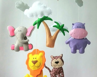 African animals baby crib mobile baby mobile nursery mobile crib mobile nursery decor animals nursery mobile safari mobile boy girl mobile