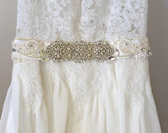 ISABELLA | Bridal Sash, Wedding Sash, Bridal Belt, Wedding Belt, Bridal accessories