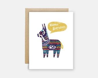Birthday Pinata - Card