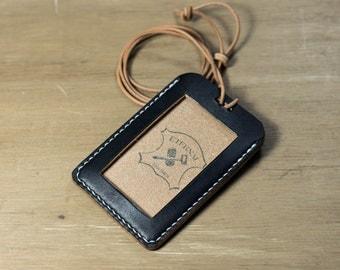 Black Hermann Oak ID Card Holder (Tall)