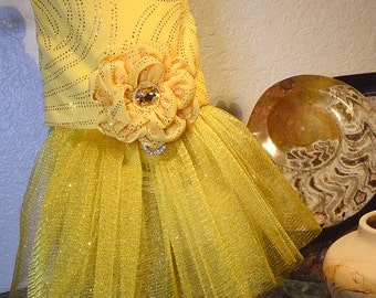 "Custom Specal Occasion Dog Dress | ""A Little Bit of Sunshine""  