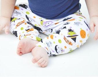 Halloween Leggings, baby girl leggings, toddler girl leggings,  halloween outfits, baby halloween clothes, halloween toddler outfits