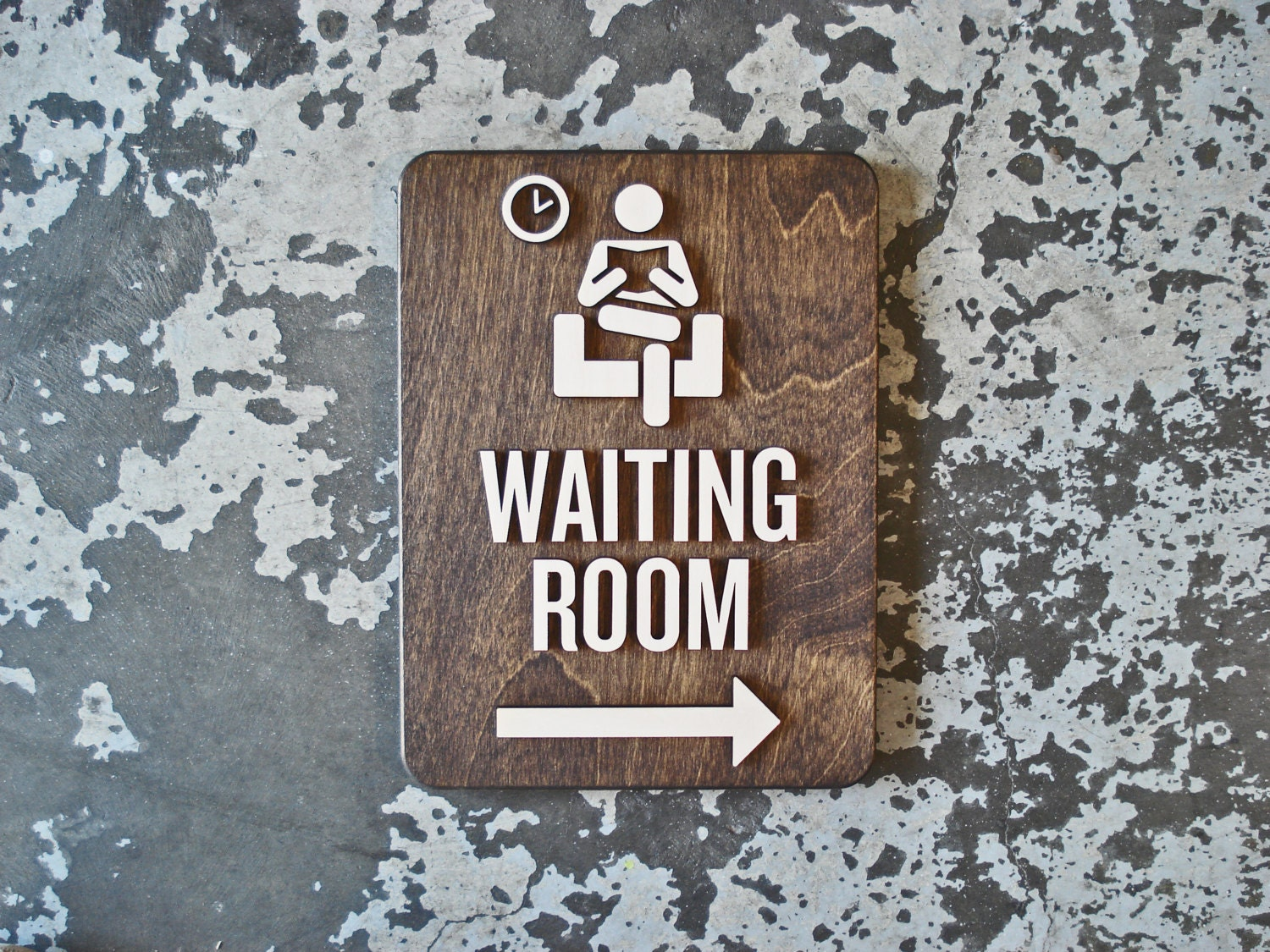 Waiting Room Office Sign With Or Without Arrow 9 X