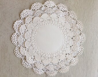 "75 Paper Lace Doilies Variety Pack 25 each of 4"", 5"" and 6"" White"