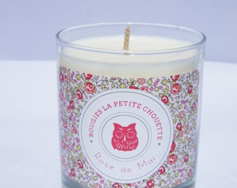 Candle rose scent, soy wax, 200g