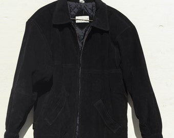 80's Great Land Real Leather Bomber Jacket